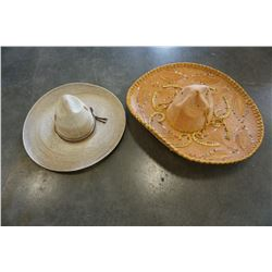 SOMBRERO AND WIDE BRIMMED HAT