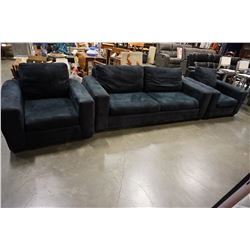 STYLUS FURNITURE SOFA, 2 ARM CHAIRS, AND OTTOMAN