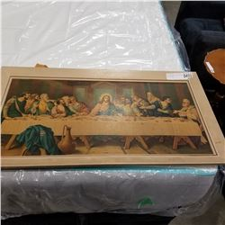 LARGE VINTAGE PRINT ON BOARD LAST SUPPER