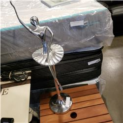 LARGE METAL BALLERINA FIGURE