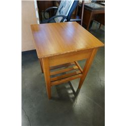 TEAK 1 DRAWER END TABLE