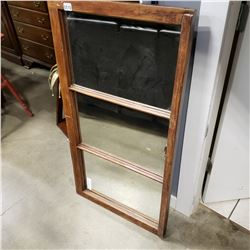 DECORATIVE MIRROR MADE FROM ANTIQUE WINOW W/ LATCH