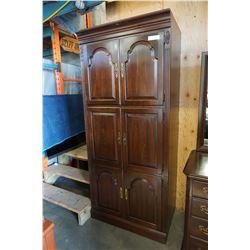 6 DOOR WALNUT ENTERTAINMENT STAND