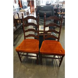2 VILAS LADDER BACK CHAIRS