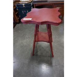 PAINTED RED DECORATIVE PLANT STAND