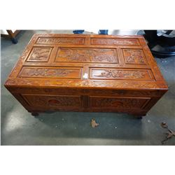 CARVED EASTERN 2 DRAWER COFFEE TABLE