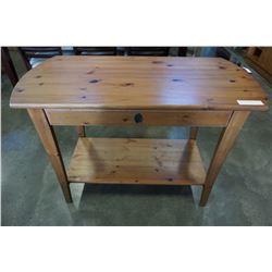 PINE 1 DRAWER SOFA TABLE
