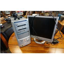 HEWLETT-PACKARD A1510N PC W/ MONITOR AND CAMERA