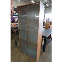 MAPLE IKEA GLASS DOOR CABINET