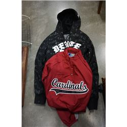 ST. LOUIS CARDINALS WARM UP JACKET SIZE SMALL AND DEUCE HOODIE