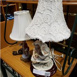 2 FIGURAL LAMPS, CHILDREN AND VICTORIAN STYLE