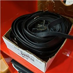 TRAY OF LEATHER BELTS