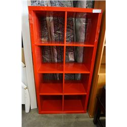 RED CUBICAL SHELF