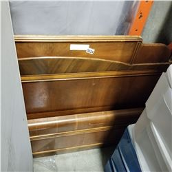 ANTIQUE HEAD BOARD AND FOOT BOARD