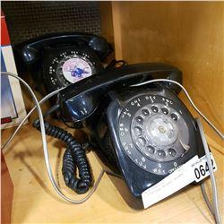 2 VINTAGE ROTARY PHONES