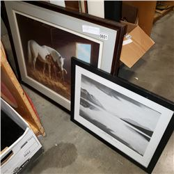 LEP HORSES BY PERSIS AND ANSEL ADAMS PRINT