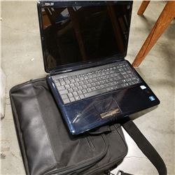 ASUS K60 IN LAPTOP WORKING W/ CHARGER AND BAG