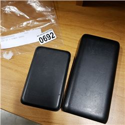 LOT OF 2 POWER BANKS 20,000 AND 22,000 MAH