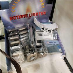 BOX OF NEW BUTANE LIGHTERS