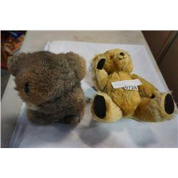 ANTIQUE TEDDY BEAR AND VINTAGE KOALA BEAR