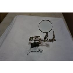 MAGNIFYING GLASS ADJUSTABLE FOR TYING FISHING FLYS