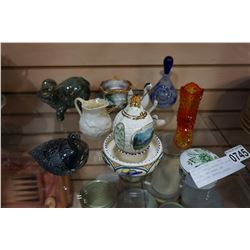 CAPIDEMONTE, BELEEK, AND OTHER CHINA, ART GLASS, AND WATERFORD CRYSTAL GLASSES