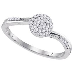 10KT White Gold 0.15CT DIAMOND FASHION RING