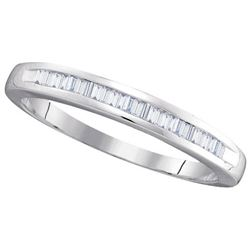 10KT White Gold 0.25CTW BAGGUETTE DIAMOND LADIES FASHIO