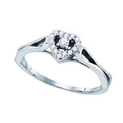 10K White-gold 0.12CT DIAMOND FASHION RING