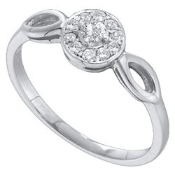 10KT White Gold 0.25CTW ROUND DIAMOND LADIES FASHION RI