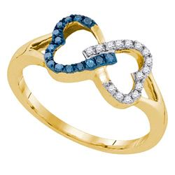10K Yellow-gold 0.15CTW DIAMOND FASHION RING