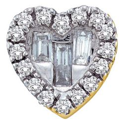 14KT Yellow Gold 0.14CT DIAMOND HEART PENDANT