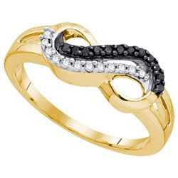 10K Yellow-gold 0.15CTW DIAMOND INFINITY RING