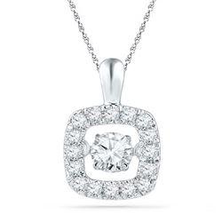10KT White Gold 0.26CTW DIAMOND FASHION PENDANT