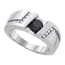 925 Sterling Silver White 1.03CT DIAMOND MICRO-PAVE MEN