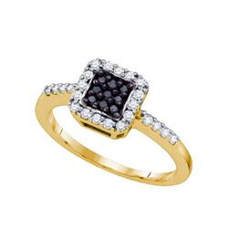 10KT Yellow Gold 0.38CTW DIAMOND FASHION RING