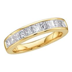14KT Yellow Gold 0.25CT DIAMOND INVISIBLE BAND