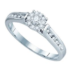 14KT White Gold 0.25CTW DIAMOND LADIES BRIDAL SET