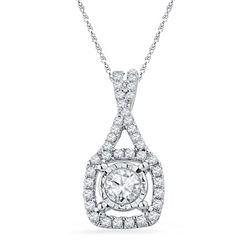 10KT White Gold 0.40CTW DIAMOND FASHION PENDANT