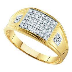 10KT Yellow Gold 0.27CTW MICRO-PAVE DIAMOND . RING