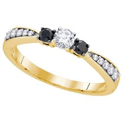 10K Yellow-gold 0.39CTW DIAMOND FASHION RING