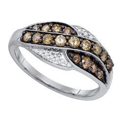 10KT White Gold 0.57CT DIAMOND FASHION RING