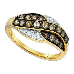 10KT Yellow Gold 0.57CTW DIAMOND FASHION RING