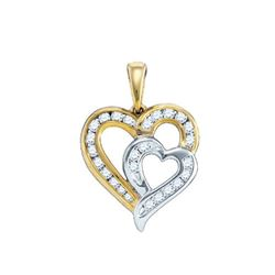 10KT Yellow Gold 0.36CTW DIAMOND HEART PENDANT