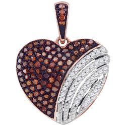10KT Rose Gold 0.33CTW DIAMOND HEART PENDANT