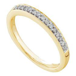 14KT Yellow Gold 0.15CT DIAMOND FASHION BAND