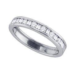 14KT White Gold 0.25CT-Diamond MACHINE-SET BAND