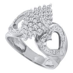 10KT White Gold 0.50CT DIAMOND CLUSTER RING