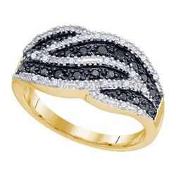 10K Yellow-gold 0.50CT BLACK DIAMOND FASHION RING