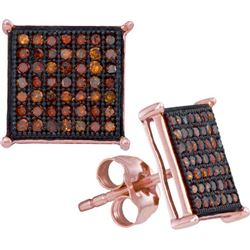 10KT Rose Gold 0.33CTW DIAMOND MICRO-PAVE EARRING